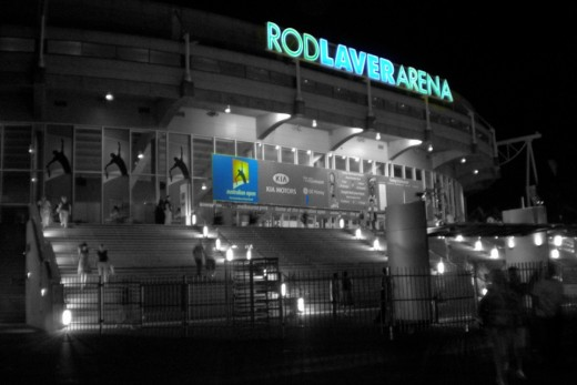 Rod Laver Arena, the center stage of the Australian Open, Melbourne, Victoria, Australia