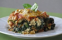 "Click on the link below to see the recipe from Alicia Silverstone's website for Whole Wheat Lasagna with Italian ""Sausage"" and Peppers. It is vegan sausage. First ingredient is 1 box of whole wheat or brown rice lasagna noodles."