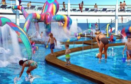 Children playing on the sun deck of the Oasis of the Seas