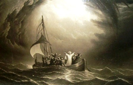Jesus calms the sea