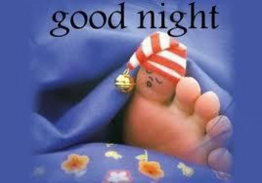 """modified by adding words """"good night"""""""