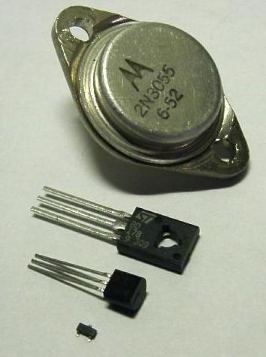 Discrete transistors - TO-3, TO-126, TO-92, SOT-23