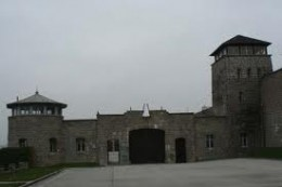 The Entrance Gates At Mauthausen Concentration Camp In Austria