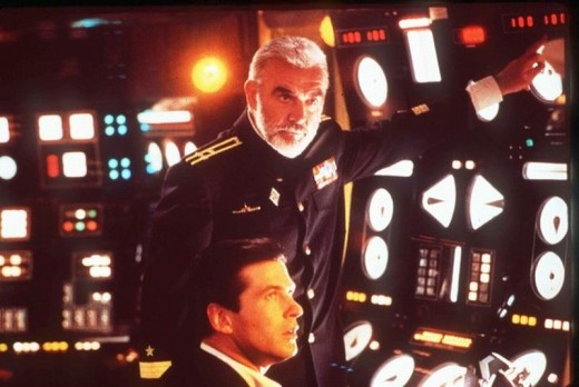 Sean Connery and Alec Baldwin in The Hunt for Red October (1990)