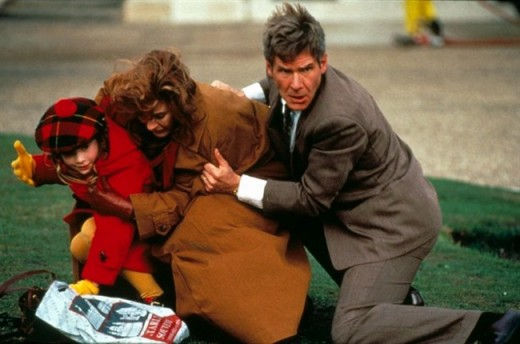 Harrison Ford, Anne Archer and Thora Birch in Patriot Games (1992)