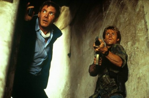 Harrison Ford and Willem Dafoe in Clear and Present Danger (1994)