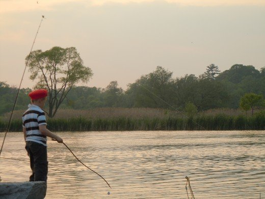 Fishing at Rouge River