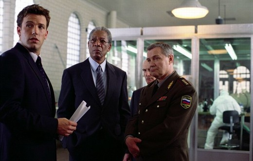 Ben Affleck and Morgan Freeman in The Sum of All Fears (2002)