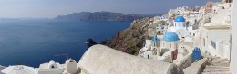 Another panoramic view of Santorini and the Thera caldera.