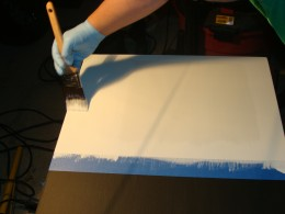 Use even strokes to apply the dry erase paint.