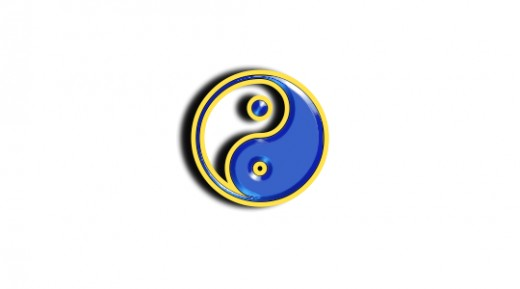 A stylized version of the T'ai Chi symbol that represents to interplay of yin and yang energies in the universe.  Meditation helps nurture the yin aspect of your being.