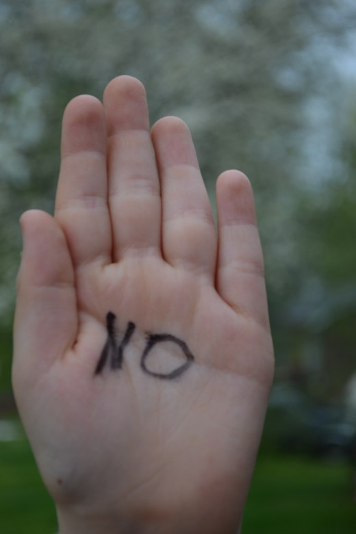 It is okay to say NO to an adult