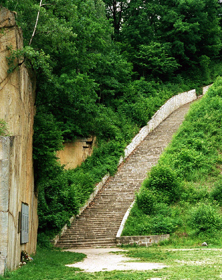 The Stairs Of Death At Mauthausen