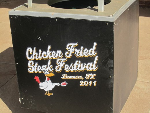 Lamesa, Texas, hosts an annual chicken-fried steak celebration.