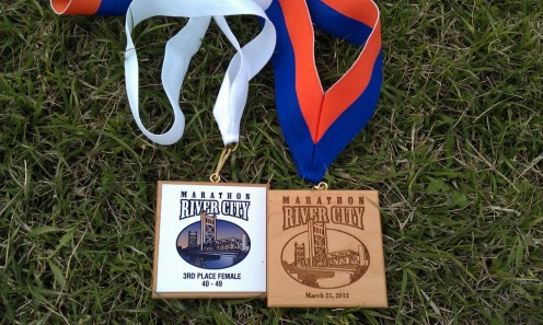 Marathon or half marathon finishers are usually awarded medals