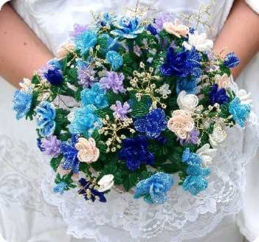 A bridal bouquet!  What a great heirloom for the women in the family.