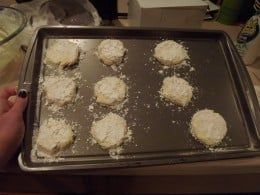 Cookies ready for oven