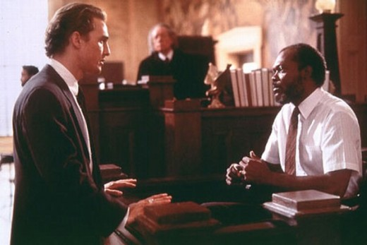Matthew McConaughey and Samuel L. Jackson in A Time to Kill (1996)