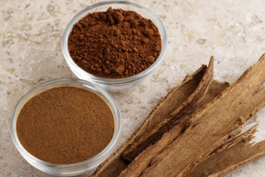 The popular and different forms of cinnamon.