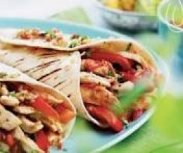 Chicken fajitas is quick and easy