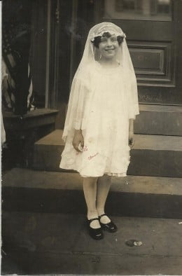 My mom on her First Communion day - Troy, New York, April 1927
