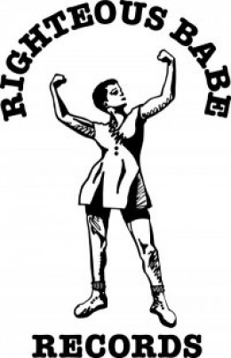 The logo for Ani Difranco's record label, Righteous Babe Records.