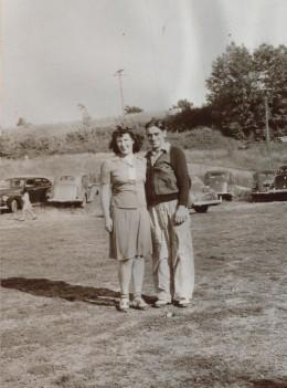 Mom and Dad c. 1940 probably near Saratoga Lake, NY