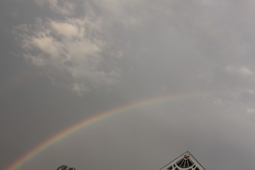 as the storms moved out on 9/29/11 a rainbow formed!
