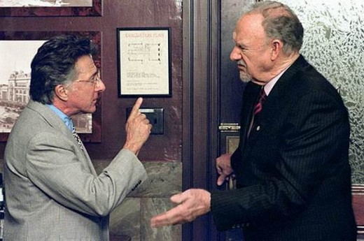 Dustin Hoffman and Gene Hackman in Runaway Jury (2003)