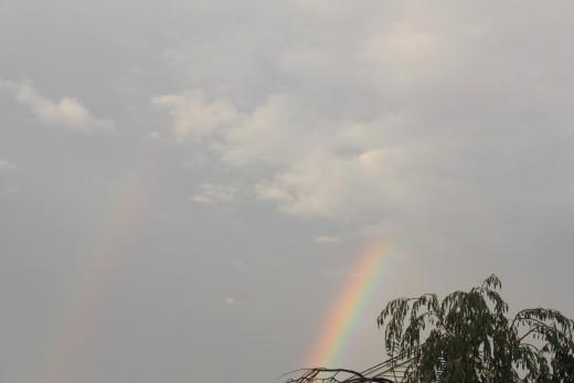 then a faint double rainbow formed on 9/29/11