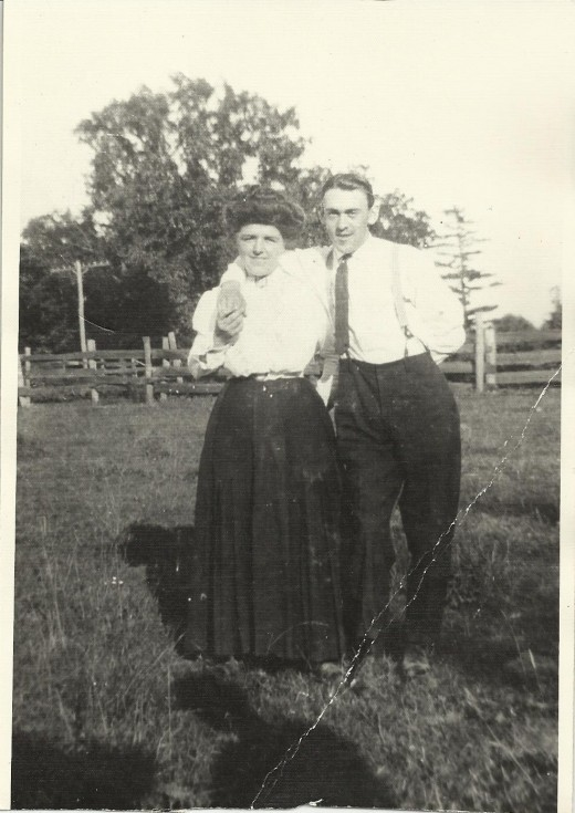 My paternal grandparents. Mary O'Hara and James A. Naylor,  Watervliet, NY, around 1910.