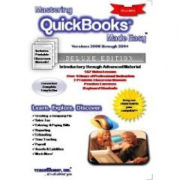 Mastering QuickBooks Made Easy v. 2008 through 2004 Training Tutorial - Learn how to use QuickBooks e Book Manual Guide [CD-ROM] (CD-ROM