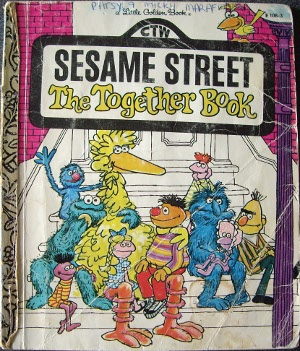 Little Golden Books often reflected the culture of the times, as did this one about Sesame Street.