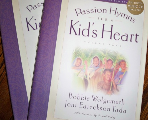 Passion Hymns for a Kid's Heart is Volume 4 in a wonderful book and CD set series.
