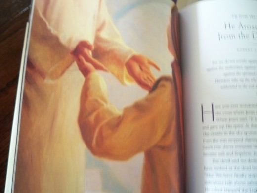 Stunning art work with stories about the hymns open each chapter in Passion Hymns for a Kid's Heart.