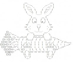 Easter Holiday ASCII Text Art: Religious Art and Easter Lilies
