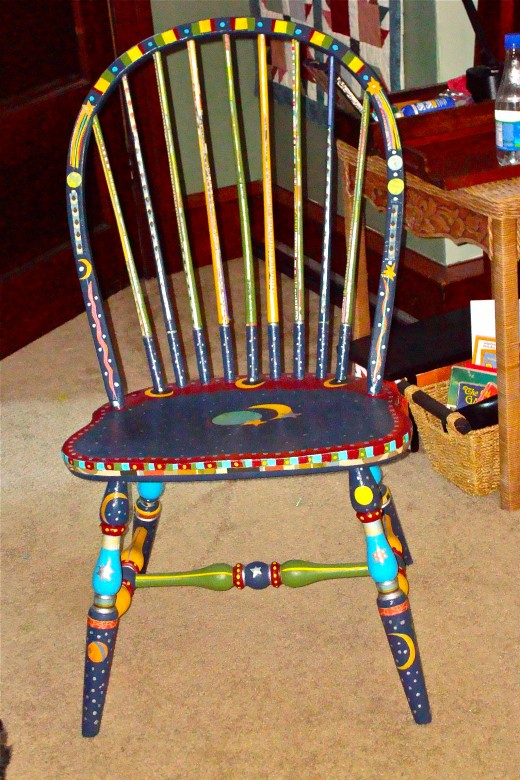 the hateful spindle chair! 1st project