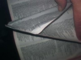 The only two pages stuck together were the ones where the Holy Spirit is mentioned in my Bible. And it wasn't from jelly on my fingers.