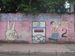 Nicaraguan political graffiti