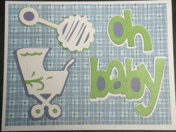 Easy to Make New Baby Card with a Cricut