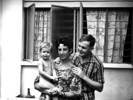 Tony Linda and their daughter Michelle outside their home on Jalan Labu Ayer. My husband was replacing Tony
