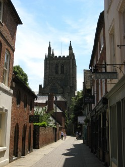 Hereford Cathedral, from Church Street.