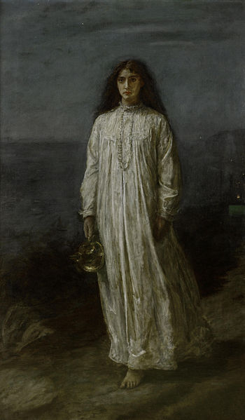 The Somnambulist (The sleepwalker), painting by John Everett Millais.