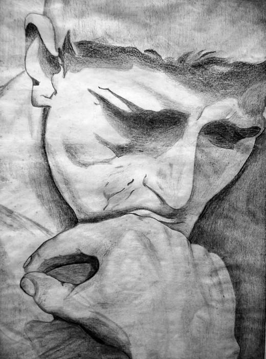 Luis Alberto Costales Cazar, Pintura realizada por Luis Alberto Costales