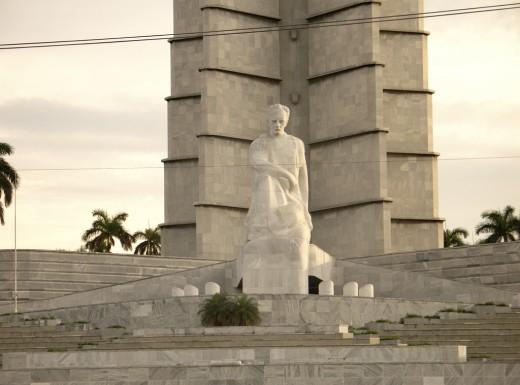 Jose Marti statue at Revolution square in Havana, Cuba