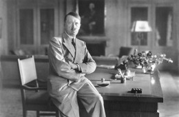 Adolph Hitler in civilian clothes, 1936, leader of the German people, 3 years after his murder of the former SA leadership.