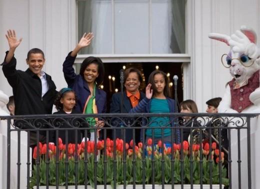 Obamas at White House Easter Egg Roll