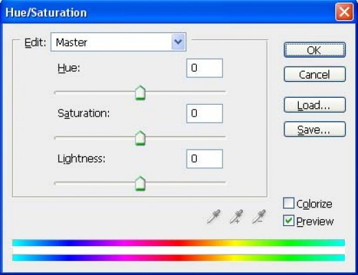 The Hue/Saturation Window