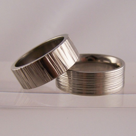 Simple and classy titanium wedding rings are all the rage