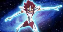 Kouga using Pegasus' cloth.